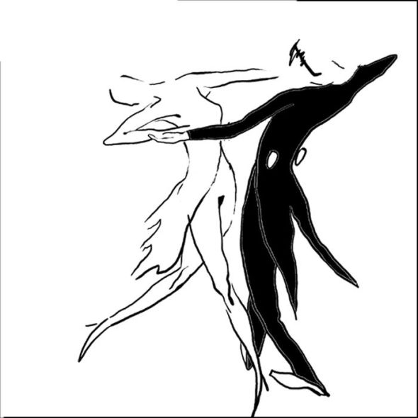 Rysunek tańczącej pary